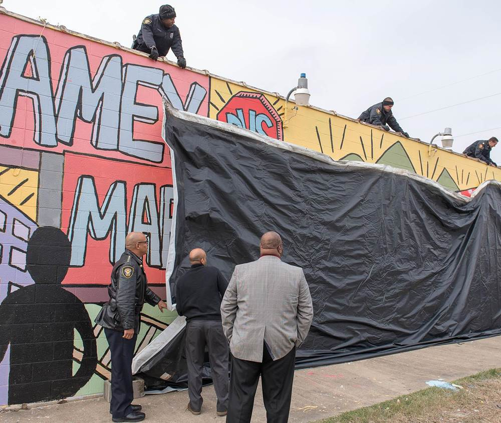 tarrant county tx ramey market mural unveiling. Black Bedroom Furniture Sets. Home Design Ideas